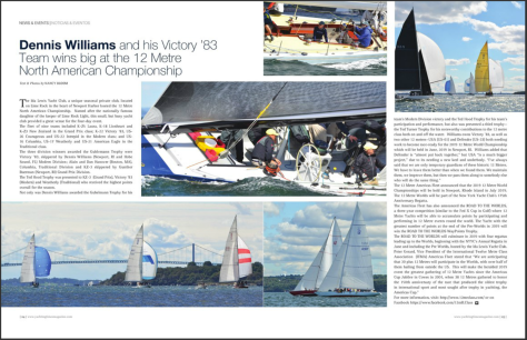 12mR North Americans featured in Yachting Times