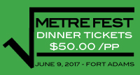 Purchase MetreFest Dinner Ticket