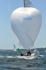 6mR Lucie US-55 executes a picture perfect spinnaker set.